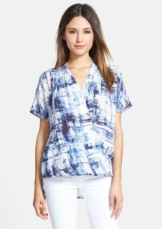 Classiques Entier® Faux Wrap Short Sleeve Silk Blouse