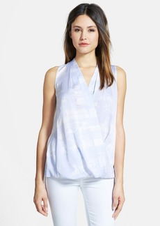 Classiques Entier® Faux Wrap Sleeveless Stretch Silk Top