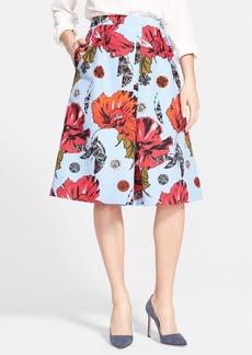 Classiques Entier® Floral Print Cotton & Silk Skirt (Regular & Petite)