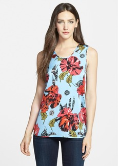 Classiques Entier® Floral Print Stretch Silk Tank