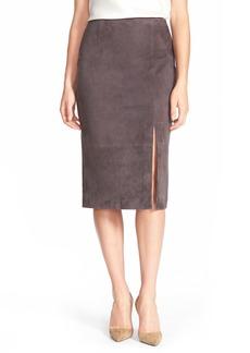Classiques Entier® Front Slit Suede Midi Skirt