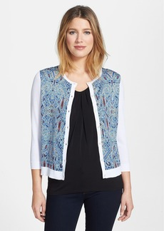 Classiques Entier® 'Ginny' Refined Silk Print Front Cardigan