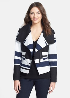 Classiques Entier® 'Grand Stripe' Wool Blend Knit Jacket