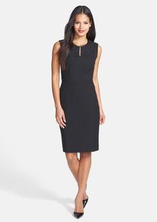 Classiques Entier® Grommet Detail Stretch Crepe Sheath Dress