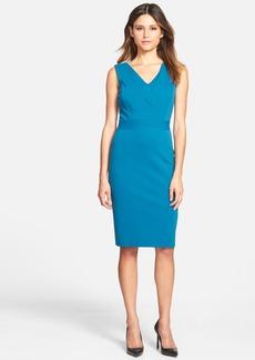 Classiques Entier® Italian Ponte Inset V-Neck Sheath Dress (Regular & Petite)
