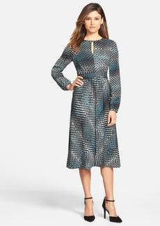 Classiques Entier® Keyhole Neck Ruched Waist Dress (Regular & Petite)