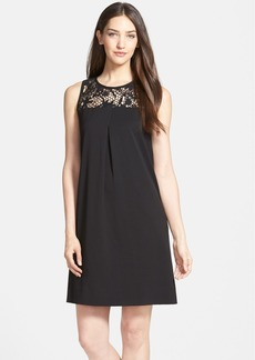 Classiques Entier® Lace Yoke A-Line Dress (Regular & Petite)