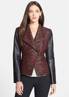 Classiques Entier® 'Larch' Tweed & Leather Jacket