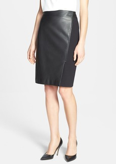 Classiques Entier® Leather Front Ponte Skirt