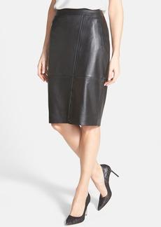 Classiques Entier® Leather Moto Skirt