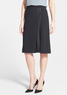 Classiques Entier® Leather Panel A-Line Skirt