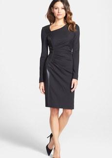 Classiques Entier® Leather Panel Knit Sheath Dress