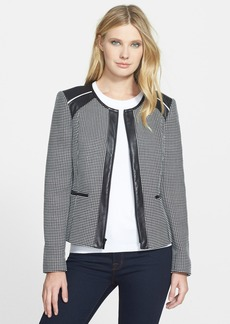 Classiques Entier® Leather Trim Jacquard Jacket