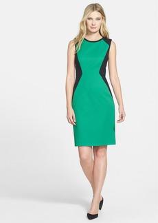 Classiques Entier® 'Luxor' Double Weave Colorblock Sheath Dress