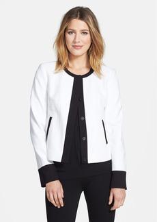 Classiques Entier® 'Marrakesh' Tweed & Knit Front Snap Jacket