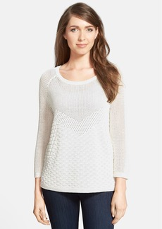 Classiques Entier® Mixed Stitch Raglan Sleeve Sweater
