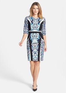 Classiques Entier® 'Nina' Print Ponte Sheath Dress