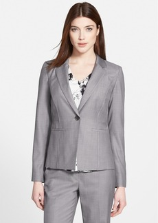 Classiques Entier® One-Button Wool Suiting Jacket (Regular & Petite)