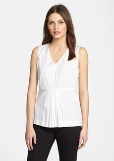 Classiques Entier® Pleat Front Stretch Silk Blouse (Regular & Petite)
