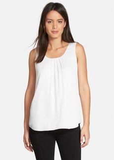 Classiques Entier® Pleat Neck Stretch Silk Top (Regular & Petite)