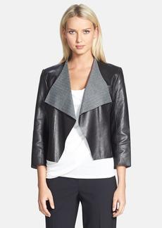Classiques Entier® Plonge Leather & Herringbone Jacket