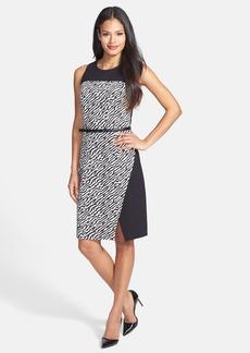 Classiques Entier® Print Front Belted Ponte Dress
