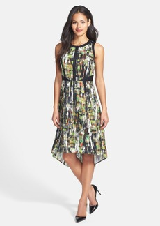Classiques Entier® Print High/Low Stretch Silk Dress