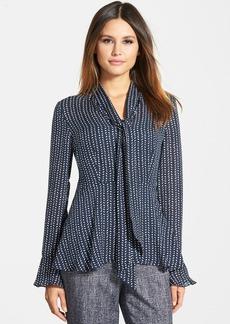 Classiques Entier® Print Silk Tie Neck Blouse