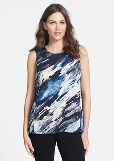 Classiques Entier® Print Sleeveless Stretch Silk Blouse