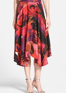 Classiques Entier® Print Stretch Silk Handkerchief Hem Skirt