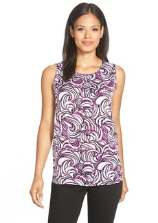 Classiques Entier® Print Stretch Silk Top (Regular & Petite)