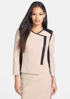 Classiques Entier® 'Reid' Textured Cotton Blend & Ponte Jacket