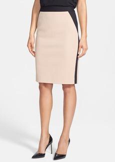 Classiques Entier® 'Reid' Textured Cotton Blend & Ponte Skirt