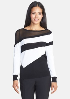 Classiques Entier® 'Salvia' Asymmetrical Stripe Pullover