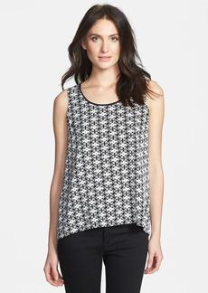 Classiques Entier® Scoop Neck Print Stretch Silk Top