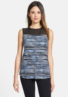 Classiques Entier® Shirred Yoke Print Sleeveless Top