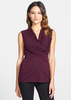 Classiques Entier® Sleeveless Draped Front Jersey Top