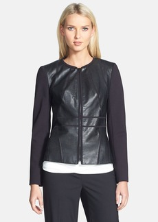 Classiques Entier® Stamped Leather & Sunmosa Ponte Jacket