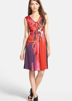 Classiques Entier® Stretch Silk V-Neck Dress (Regular & Petite)