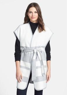 Classiques Entier® Stripe Wool Blend Wrap Front Cape