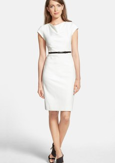Classiques Entier® 'Sunmosa' Drape Neck Ponte Dress (Regular & Petite)