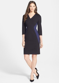 Classiques Entier® 'Sunmosa Ponte' Colorblock Pieced Sheath Dress
