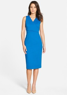 Classiques Entier® 'Sunmosa' Ponte Double V-Neck Sheath Dress