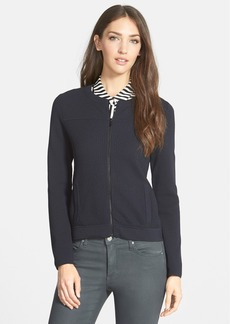 Classiques Entier® Textured Front Zip Cardigan