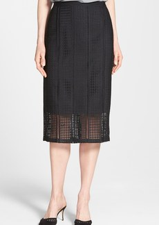 Classiques Entier® 'Triad' Eyelet Embroidered Pencil Skirt (Regular & Petite)