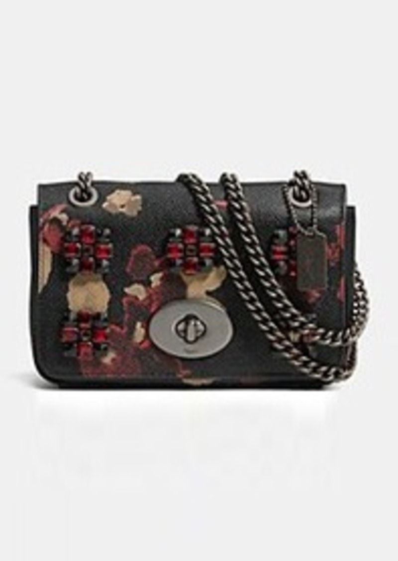 Coach COACH MINI CHAIN CROSSBODY IN JEWELED FLORAL PRINT LEATHER | Handbags - Shop It To Me
