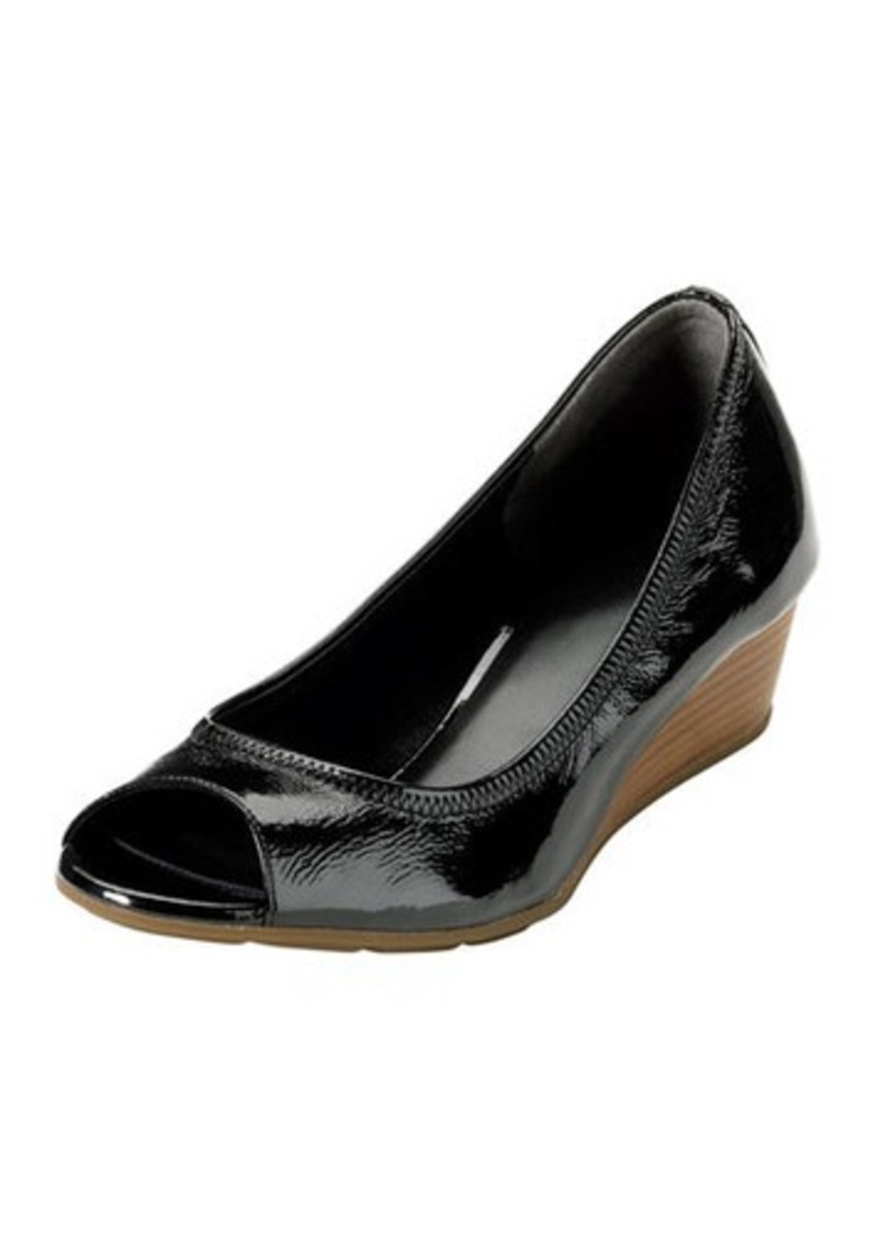 cole haan cole haan air tali patent leather wedge shoes