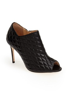 Cole Haan 'Annabel' Quilted Nappa Leather Peep Toe Bootie (Women)