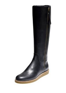Cole Haan Auden Tall Leather Boot, Black