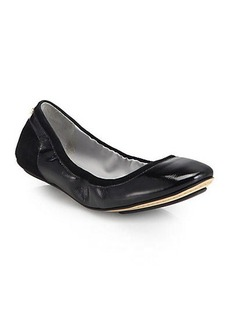 Cole Haan Avery Suede & Patent Leather Ballet Flats